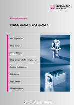 Program summary hinge clamps and clamps