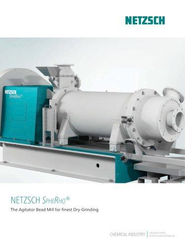 NETZSCH Dry Agitator Bead Mill SpheRho