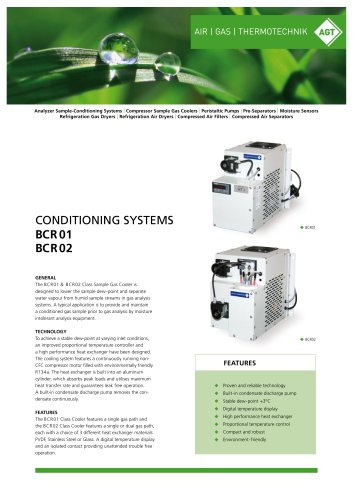 CONDITIONING SYSTEMS BCR 01 / BCR02