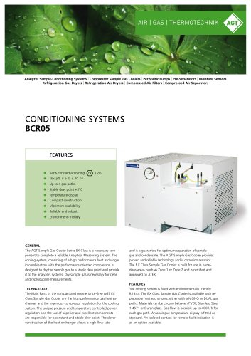 CONDITIONING SYSTEMS BCR 05