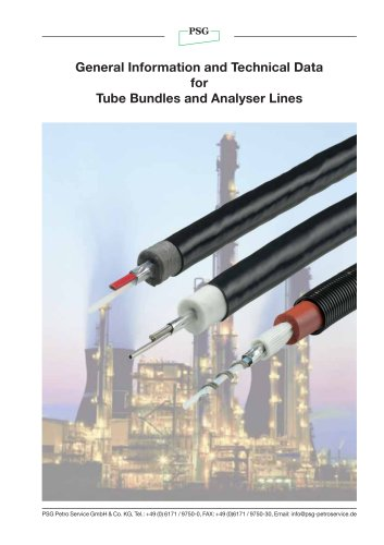 General Information and Technical Data for Tube Bundles and Analyser Lines