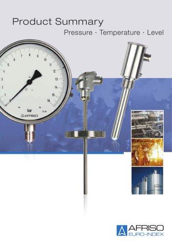 Pressure - Temperature - Level