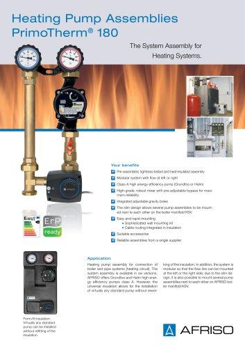PrimoTherm 180 - Heating pump assemblies