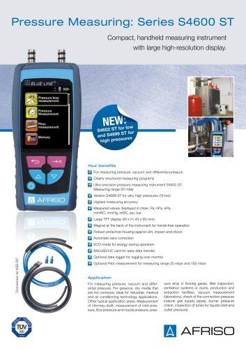 S4600 ST - Handheld pressure measuring instrument