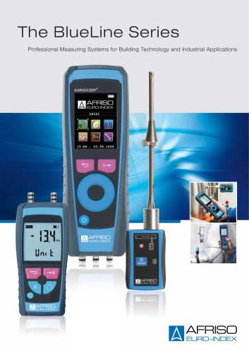 The BlueLine Series - Professional Measuring Systems for Building Technology and Industrial Applications