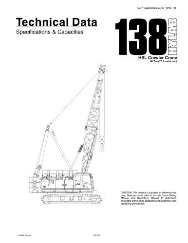 138 HSL crawler crane 80 Ton (72.6 metric ton)