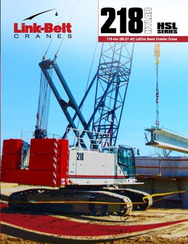 218 HSL SERIES 110-ton (99.97 mt) Lattice Boom Crawler Crane