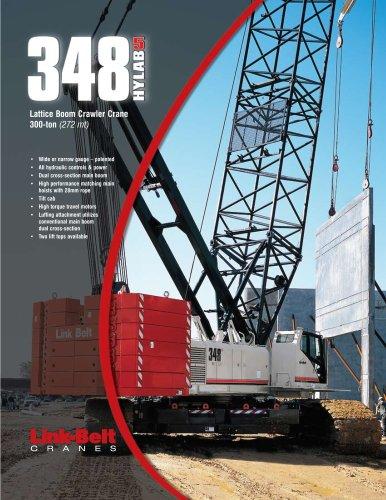 Link-Belt   348 HYLAB 5 300-ton (272.16 mt) Hydraulic Lattice Boom Crawler Crane