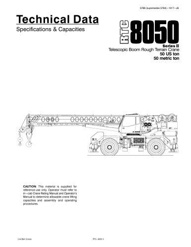 RTC8050 series II Telescopic Boom Rough Terrain Crane 50 US ton 50 metric ton