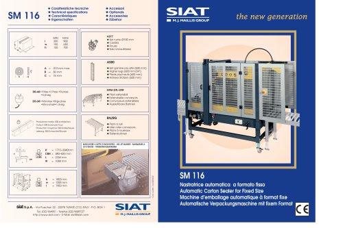 Siat - Automatic Carton Sealer for Fixed Size (it,en,fr,de)