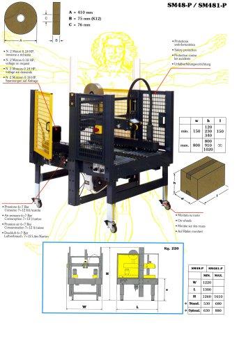 SM48 Semi automatic case sealers random format