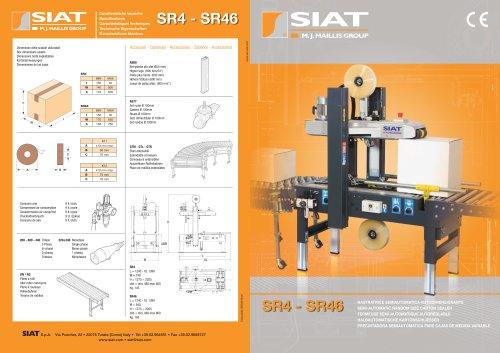 SR4-SR46 Semi automatic case sealer random size range