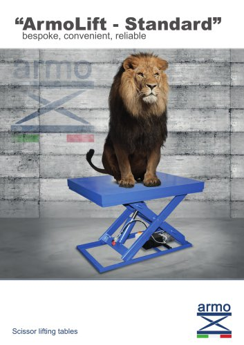 "Scissor lift table ""ArmoLift - Standard"": bespoke, convenient, reliable"