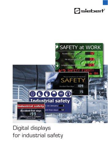 Digital displays for industrial safety
