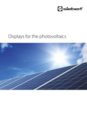 Displays for the photovoltaics