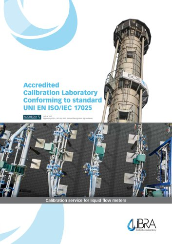 LiBRA accredited calibration laboratory UNI EN ISO/IEC 17025