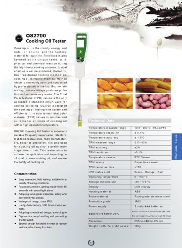 OS2700 Cooking Oil Tester