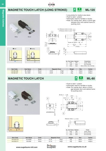 MAGNETIC TOUCH LATCH (LONG STROKE)