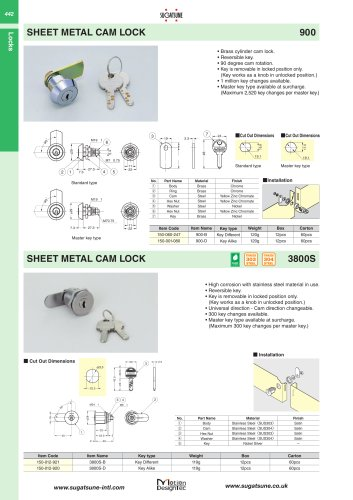 SHEET METAL CAM LOCK