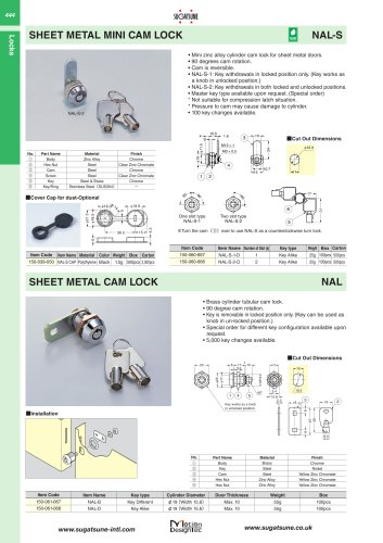 SHEET METAL MINI CAM LOCK