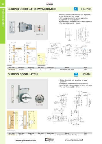 SLIDING DOOR LATCH W/INDICATOR