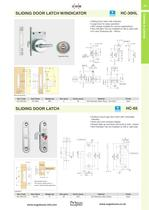 SLIDING DOOR LATCH W/INDICATOR - 2