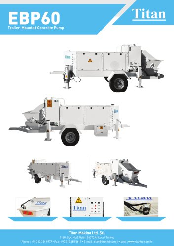 EBP60 Trailer-Mounted Concrete Pump