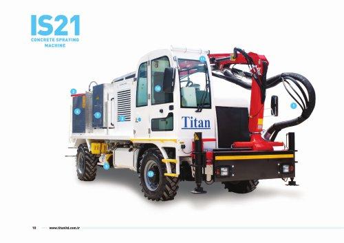 IS21 concrete spraying machine