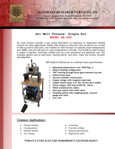 Arc Melt Furnace SA-200