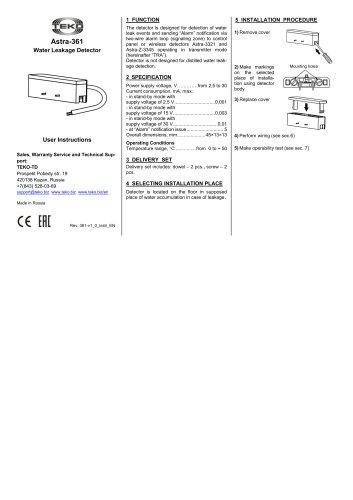 Astra-361 Manual
