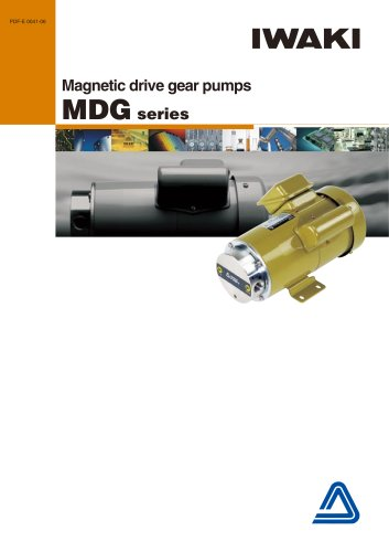 Magnetic drive gear pumps MDG series