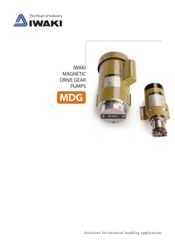MDG Magnetic drive gear pumps