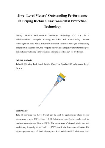 Jiwei Level Meters´ Outstanding Performance in Beijing Richuan Environmental Protection Technology
