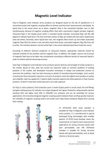 Jiwei Magnetic Level Indicator Catalog