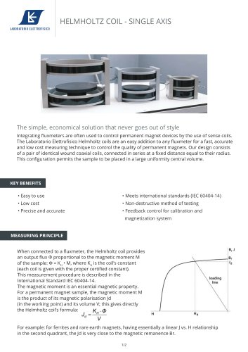 3-Axes Helmholtz Coil- control the quality of permanent magnets