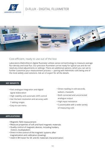 Fluxmeter - Digital Flux - Quality control for Permanent magnets