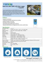 TZONE RELATIVE HUMIDITY DATA-LOGGER / TEMPERATURE / USB / WITH LCD DISPLAY TEMPU03
