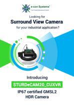 IP67 Full HD GMSL2 HDR camera for NVIDIA Jetson AGX Xavier