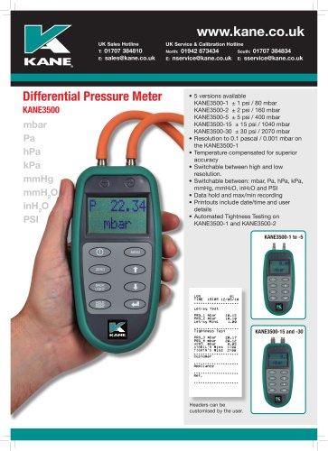 Differential Pressure Meter KANE3500 Series