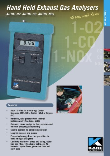 Hand Held Exhaust Single Gas Analyser - Oxides of Nitrogen (NO)) AUTO1-2 NO
