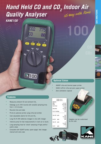 KANE100-1 Indoor Air Quality Analyser