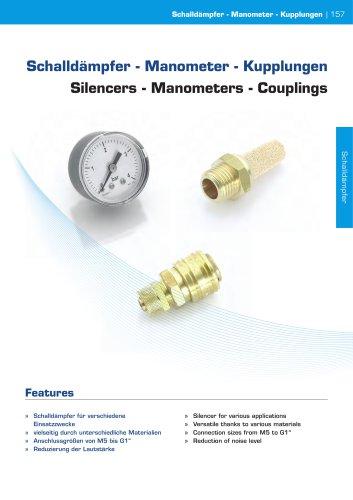 Silencers - Manometers - Couplings