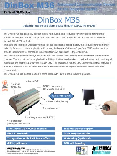 Datasheet DINBox_M36