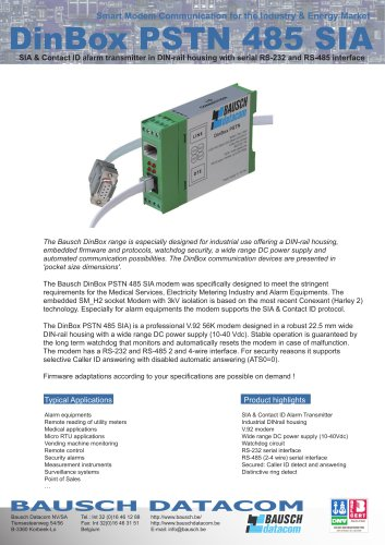 DinBox PSTN 485 SIA