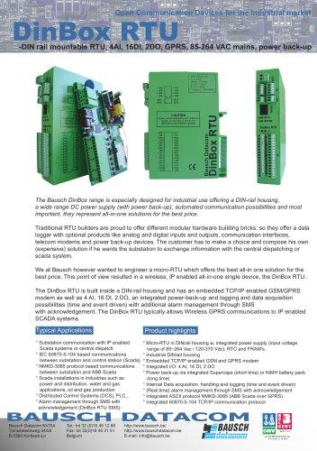 DinBox RTU (DB RTU)