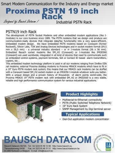 Proxima PSTN 19 inch Rack
