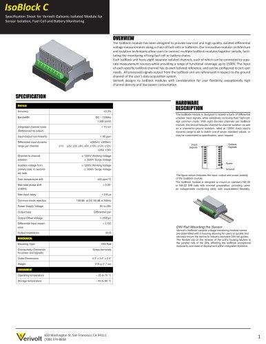 IsoBlock C-8c  Off-the-shelf signal isolator