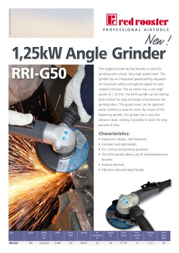 Red Rooster Angle Grinder RRI-G50