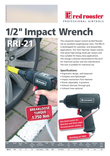 Red Rooster RRI-21 Impact Wrench 1/2""