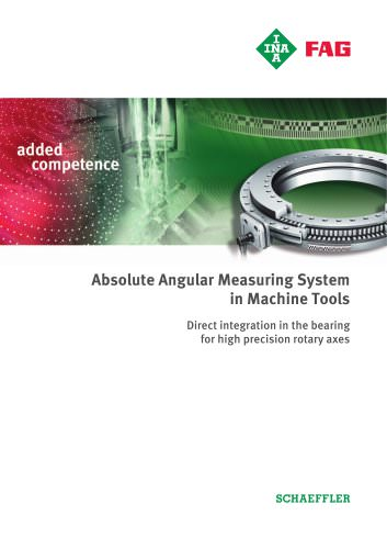 Absolute Angular Measuring System in Machine Tools